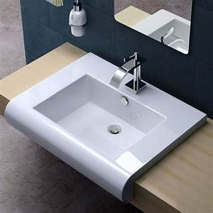 durovin bathroom basin sink wall mounted hung counter top With lavabo salle de bain encastrable