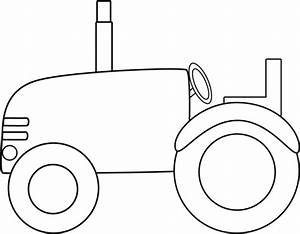 Black and White Tractor Clip Art - Black and White Tractor ...