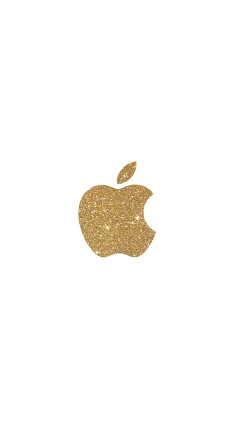 Gold Lock Screen Wallpaper Iphone by Gold Glitter Apple Logo Iphone 6 Wallpaper Click For