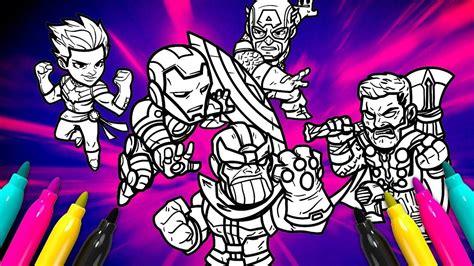 Avengers Endgame Colouring In