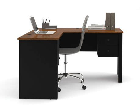 l shaped desk walmart canada somerville l shaped desk in black and tuscany brown