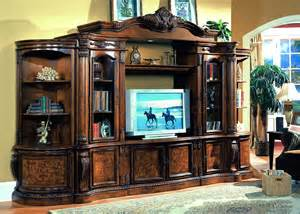 Discontinued Ashley Furniture Dining Room Chairs by Cherry Amp Ash Burl Finish Classic Entertainment Wall Unit