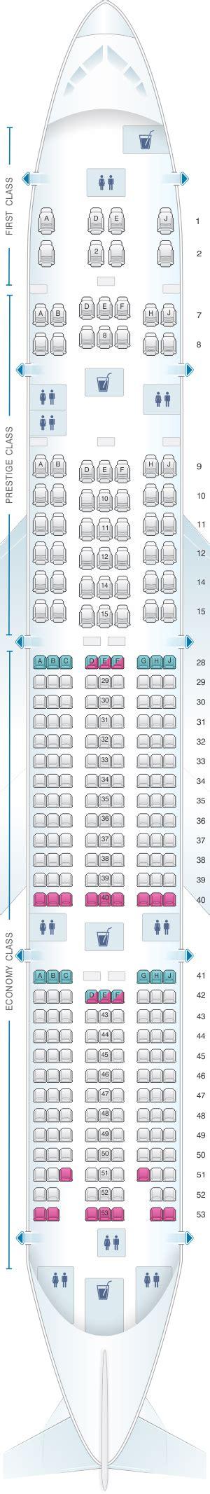 plan si es boeing 777 300er air seat map air boeing b777 300er 291pax seatmaestro