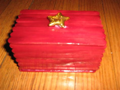 Gift Box From Popcycle Sticks · A Popsicle Stick Box