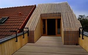 extension bois dun toit terrasse archionline With faire un toit terrasse
