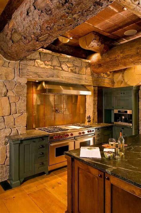 cabin kitchens ideas rustic bark log kitchen cabin kitchen bar