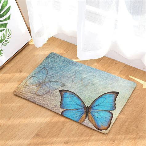 Colorful Front Door Mats by Aliexpress Buy Colorful Butterfly Front Door Mat
