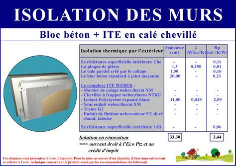 isolation thermique exterieur credit d impot devis