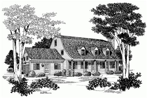 Gambrel Roof House Floor Plans by Bell Shaped Gambrel Roof Hwbdo03668 Colonial From