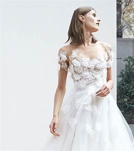 photo robe de mariee 2018 robe col bardot oscar de la With robe de mariée hiver avec bijoux en gros