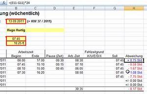 Arbeitszeit Mit Excel Berechnen : minus zeiten excel ist sexy ~ Themetempest.com Abrechnung