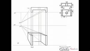 Engineering Drawing Tutorials  Perspective Drawings With Front And Side View  T 3 3