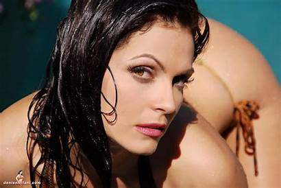 Denise Milani Glasses Pool Attractive Models Qed