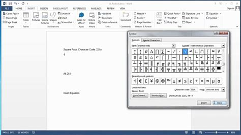 how to use word how to put a radical on microsoft word using microsoft