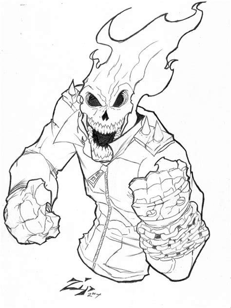 Coloring Pages For Boys by Ghost Rider Coloring Pages Free Printable Ghost Rider
