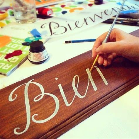 BrownPaperBunny painting DIY Wedding Welcome sign in ...