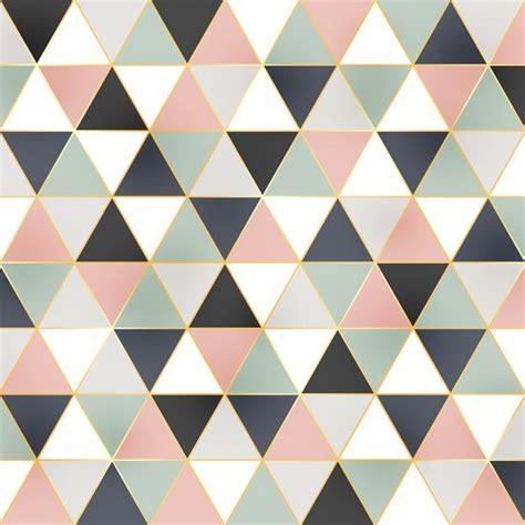 tri double dust geometric dusty pastel triangle pattern