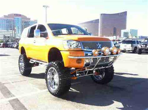 custom lifted nissan armada buy used custom lifted showtruck lambo orange nissan