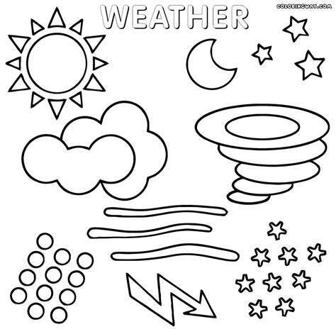 weather color weather coloring pages coloring pages to and print