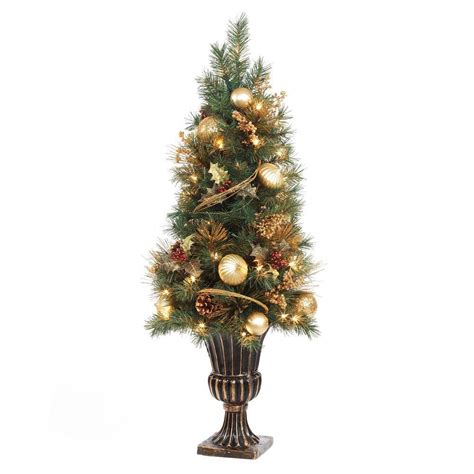 home accents holiday 4 ft gold artificial christmas porch