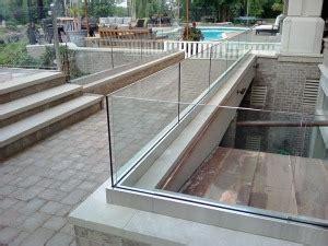 aluminum  channel glass railing