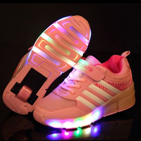 girls light up sandals new fashion children sneakers with wheels kids light up