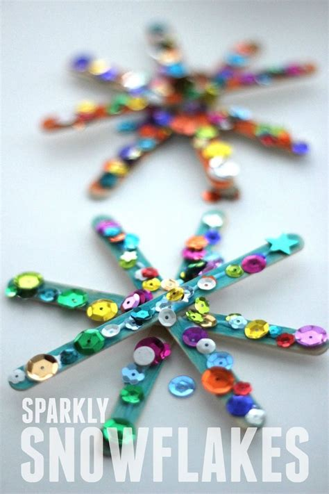 sparkly snowflake craft for crafts on a budget 502 | 3209569845e92c057d917174d0c0ecc5