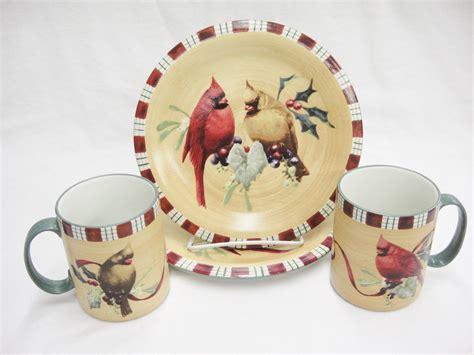Lenox plate sets castrophotos lenox winter greetings everyday tartan cardinal mugs salad m4hsunfo