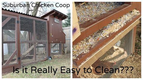 suburban chicken coop    easy  clean youtube