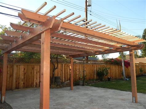 redwood pergola and 7 5 foot fence with lattice on top yelp