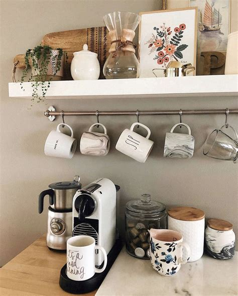 Coffee bar ideas for your home see more ideas about coffee stations coffee corner and coffee nook best coffee bar cof coffee bar home bars for home decor. Coffee bar | Small space organization, Small spaces, Home decor