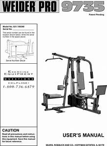 Weider 831159390 User Manual Pro 9735 Manuals And Guides