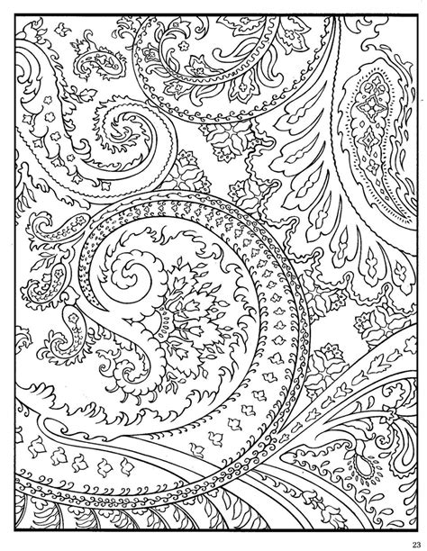 dover paisley designs coloring book adult coloring pages