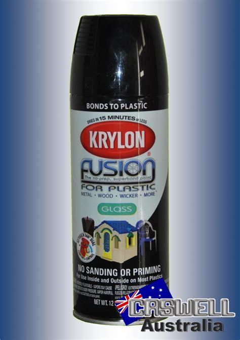 krylon fusion  plastic gloss black caswell australia