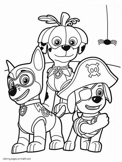 Chase Coloring Printable Paw Pages Patrol Getcolorings