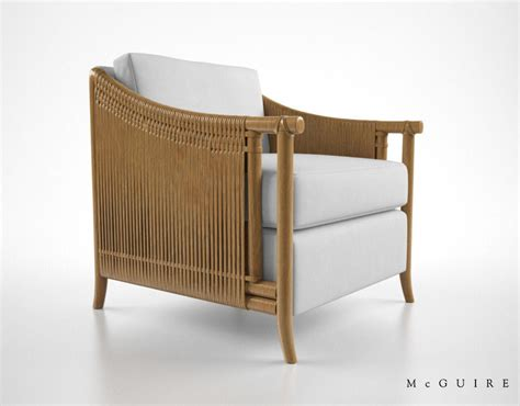 mcguire furniture bill sofield lounge chair 3d model