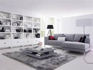 deco epuree salon exemples d39amenagements With tapis de sol avec canapé à bascule