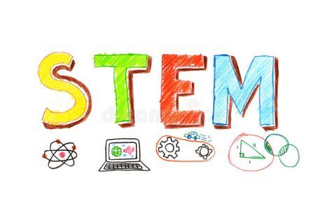 illustration of stem word banner stock vector image 87906849