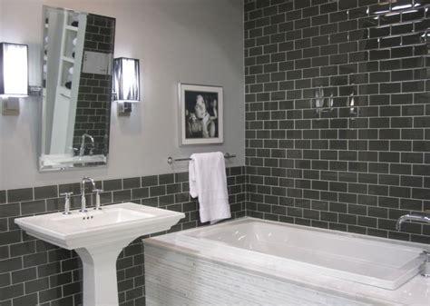 tub surround glass subway tile  white marble  pinterest