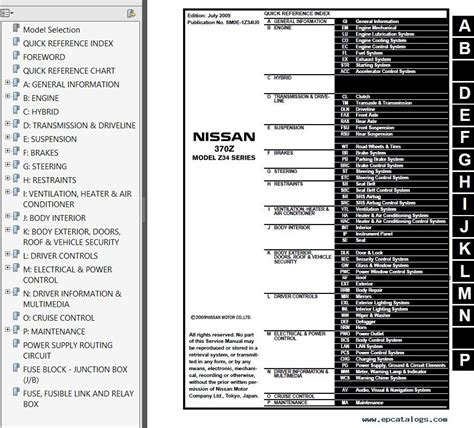 download car manuals pdf free 2012 nissan 370z free book repair manuals nissan 370z model z34 series 2009 2010 service manual pdf