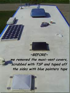 Fiberglass RV Roof Coating