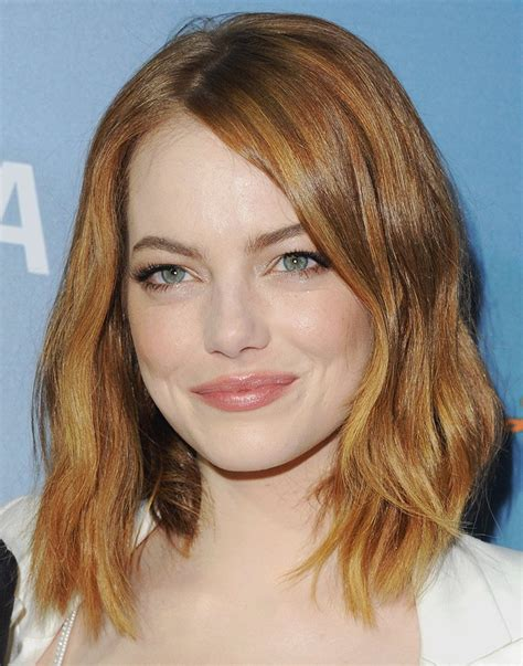 gorgeous celebrity lob  long bob haircuts  inspire   thefashionspot