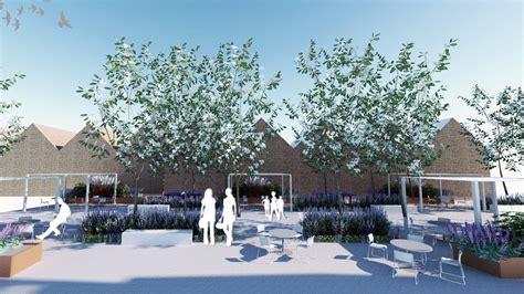 latymer upper school campus design concept landscape architects urban  garden designers london