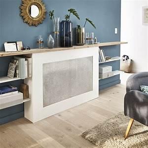 Fabriquer Un Cache Radiateur : un cache radiateur et un mur bleu baltique leroy merlin ~ Melissatoandfro.com Idées de Décoration
