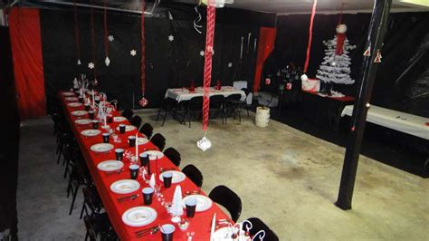 red white black christmasholiday party ideas photo