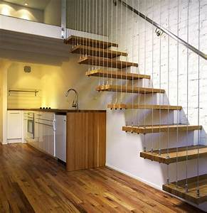 suspended staircase - Modern - Staircase - new york - by