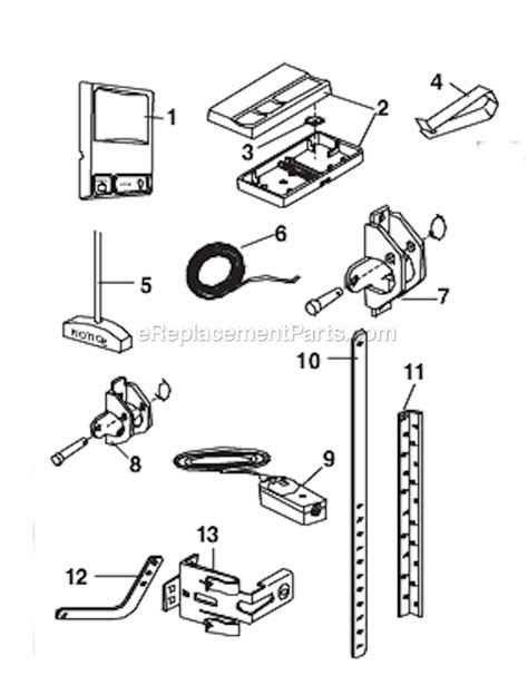 chamberlain garage door parts chamberlain 248735 parts list and diagram