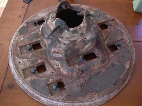 iron mountain christmas tree stand possibly german w paper