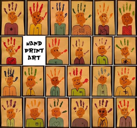 94 best preschool themes all about me images on 563 | 65596634ee7dfd479a5579396515b8a7 hand print art hand prints