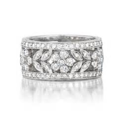 gold womens wedding band preville garland floral pave white gold 39 s wedding band king jewelers